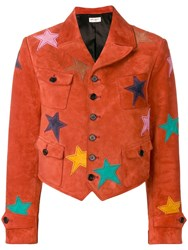 Saint Laurent Star Patch Jacket Red