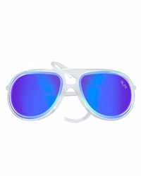 Alero Drop Universal Fit Rubber Aviator Sunglasses Ice Blue