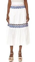 Temperley London Spellbound Skirt White Mix
