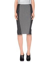22 Maggio By Maria Grazia Severi Knee Length Skirts Grey