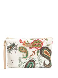 Liu Jo Paisley Print Clutch Bag Neutrals