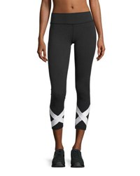 Beyond Yoga X Marked Mesh 7 8 Length Leggings Black White Black
