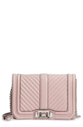 Rebecca Minkoff Small Love Leather Crossbody Bag Pink Vintage Pink