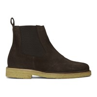 A.P.C. Brown Suede Grisha Boots