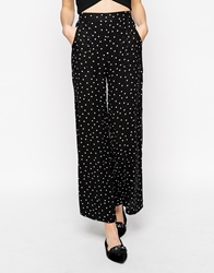 Sugarhill Boutique Polka Palazzo Pants Blackwhite