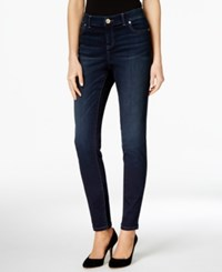 Inc International Concepts Beyond Stretch Indigo Wash Curvy Skinny Jeans Only At Macy's Midlake Wash