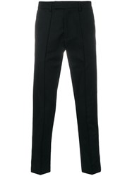 Gcds Contrasting Side Panel Trousers Black