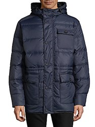 Hawke And Co Quilted Snap Jacket Slate Blue