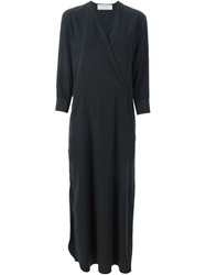 Societe Anonyme Long Wrap Dress Black
