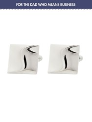 Simon Carter Warped Square Cufflinks Silver
