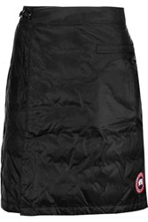 Canada Goose Camp Wrap Effect Quilted Shell Down Mini Skirt Black