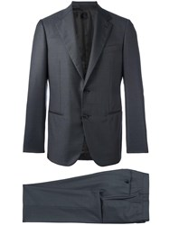 Caruso Fitted Dinner Suit Grey