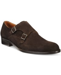 Tasso Elba Men's Matteo Double Monk Loafers Only At Macy's Men's Shoes Brown