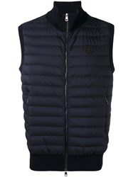 Moncler Quilted Body Warmer Jacket Blue