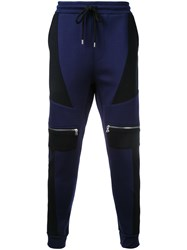 Markus Lupfer Zip Pocket Track Pants Blue