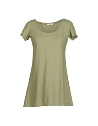 .. Merci Merci Short Sleeve T Shirts Light Green