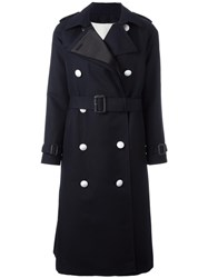 The Reracs Double Breasted Trench Coat Blue