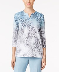 Alfred Dunner Ombre Animal Print Top Multi