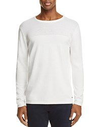 Scotch And Soda Perforated Cotton Sweater White