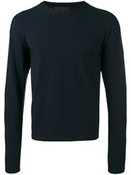 Diesel Black Gold Crew Neck Jumper Men Polyester Viscose S Blue