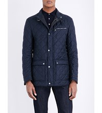 Salvatore Ferragamo Quilted Jacket Navy