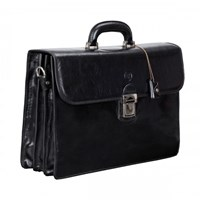 Maxwell Scott Bags Black Quality Leather Briefcase Paolo3