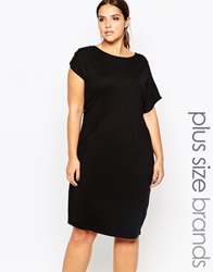 Carmakoma Knitted Midi Shift Dress Black