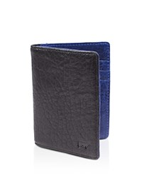 Will Leather Goods Reveal Flip Front Pocket Wallet Black Royal