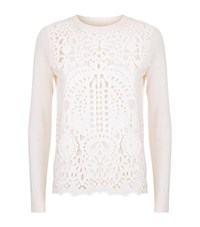 Ted Baker Anlise Lace Front Jumper Female White