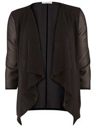 Gina Bacconi Chiffon Waterfall Jacket Black