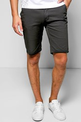 Boohoo Fit Stretch Chino Short Black