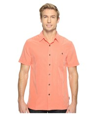 Royal Robbins Mojave Desert Pucker S S Guava Men's Short Sleeve Button Up Pink
