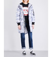 Aape By A Bathing Ape Hooded Shell Jacket White