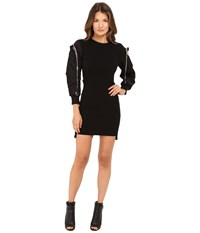 Dsquared Wool Jersey Dress Black