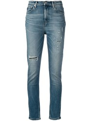 Calvin Klein Jeans Ripped Skinny Blue