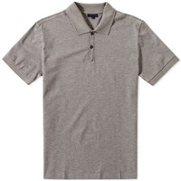 Lanvin Embroidered L Polo Grey