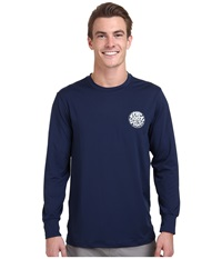 Rip Curl Wettie Long Sleeve Surf Shirt Navy Men's Swimwear