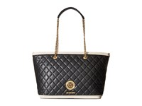 Love Moschino Superquilted Chain Strap Tote Black White Tote Handbags