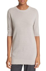 Vince Women's Elbow Sleeve Cashmere Sweater Sand