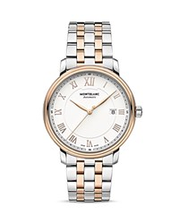 Montblanc Tradition Date Automatic Two Tone Watch 40Mm White Rose