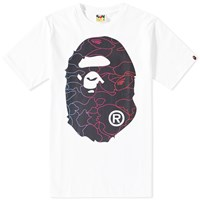 A Bathing Ape Pencil Neon Camo Big Head Tee White