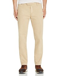 Eleventy Washed Flat Front Slim Fit Chinos 100 Bloomingdale's Exclusive Camel