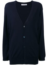 Edamame London Twinset Cardigan Women Virgin Wool 3 Blue