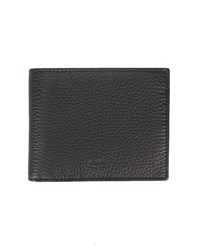 Armani Collezioni Grey Grained Leather Wallet