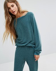 Wildfox Couture Baggy Beach Jumper Shaphire Green
