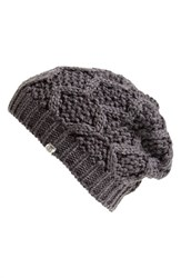 Junior Women's Element Slouchy Knit Beanie Grey Carbon