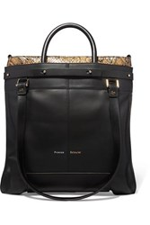 Proenza Schouler Ps19 Small Leather And Elaphe Tote Black