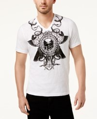 Inc International Concepts Men's Graphic Print T Shirt Created For Macy's White Pure