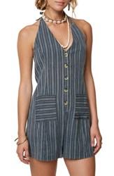 O'neill Electra Cover Up Romper Navy