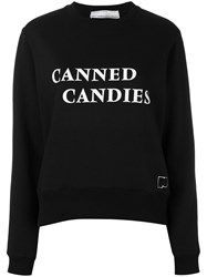 Paco Rabanne Canned Candies Sweatshirt Women Cotton Polyester 40 Black